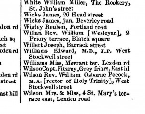 PO directory 1874 East Hill