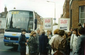 GF students off to Westminster in the 1990s